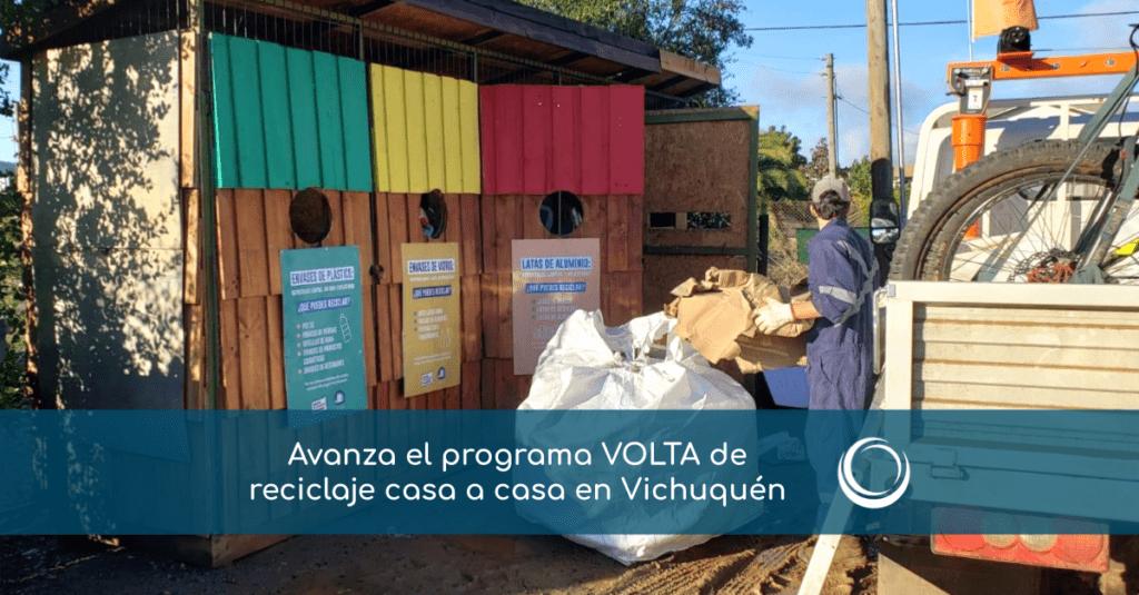 Piloto VOLTA de Reciclaje casa a casa en Vichuquén avanza con talleres comunitarios
